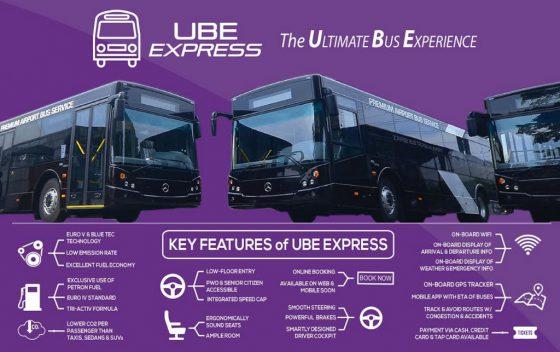 UBE Express BUSのホームページ