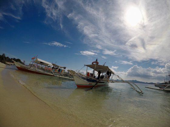 コロン島プライベートツアーで借りた船