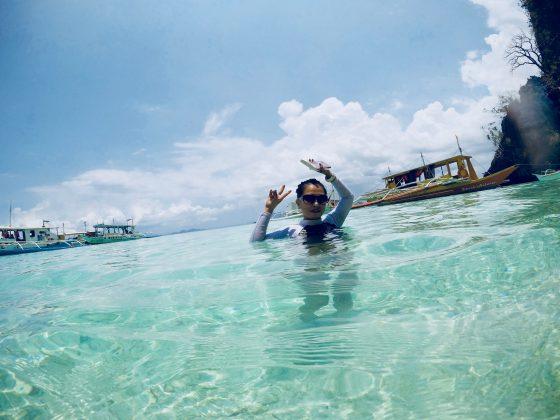コロン島 ビーチ91の透き通るような海