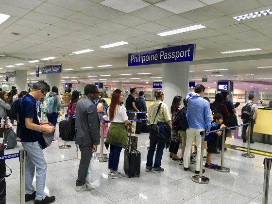 マニラ空港ターミナル3入国審査