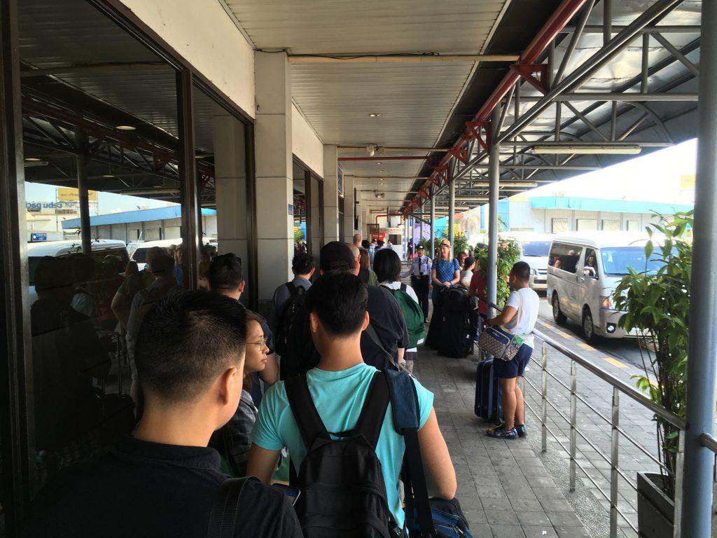 マニラからブスアンガ島(コロン島)への移動(マニラ空港ターミナル4 入り口)