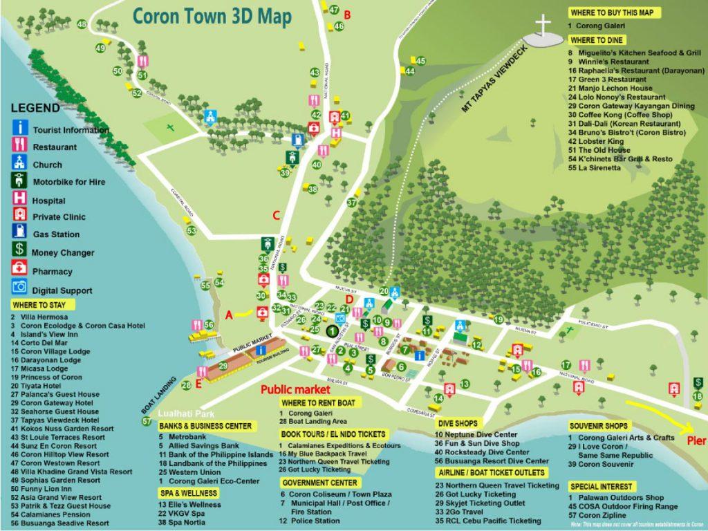 ブスアンガ島 コロンタウンのマップ