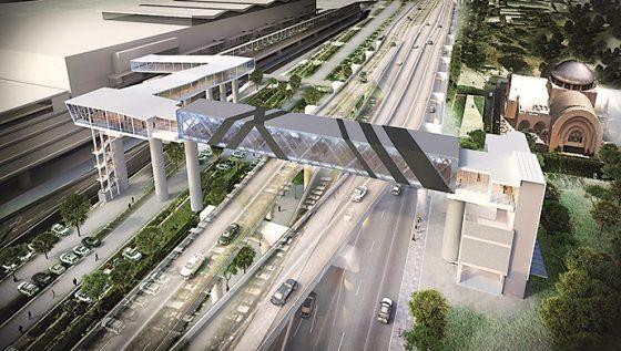 マニラ空港第3ターミナルに新しく出来たスカイブリッジ