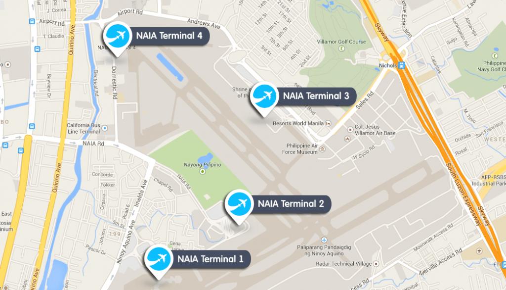 マニラからブスアンガ島へのフライトはNAIAターミナル4を使うことになる