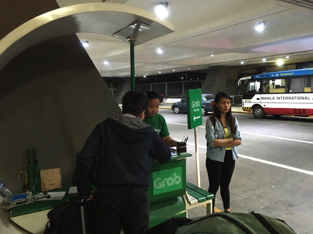 マニラ・ニノイアキノ国際空港から市内への移動手段・アクセス方法(ターミナル1にあるGrabスタンド)