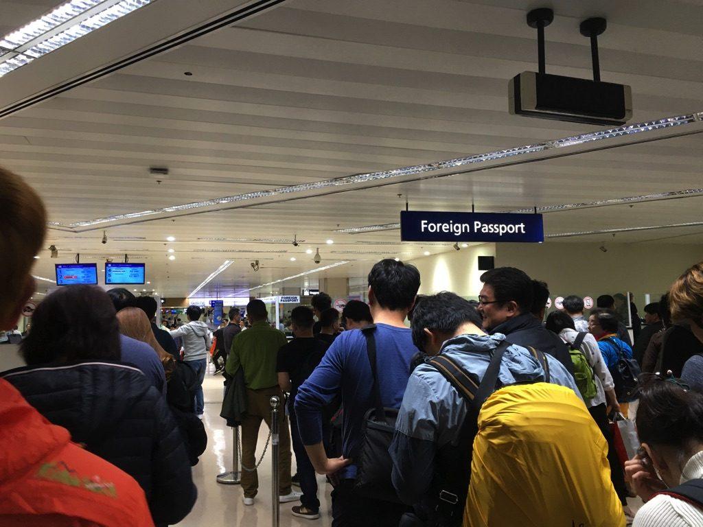 マニラ空港第1ターミナルのイミグレーション前
