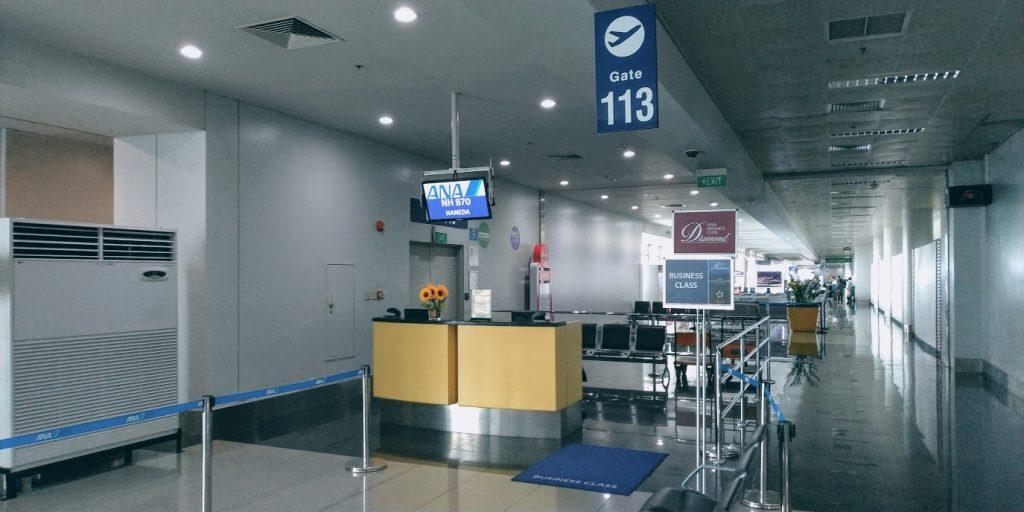 マニラ空港ターミナル3 113番ゲート(ANAはだいたいココ)