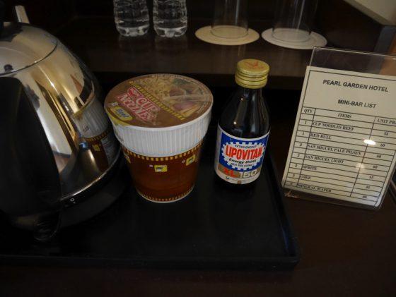 パールガーデンホテル マニラ の客室の有料スナック類