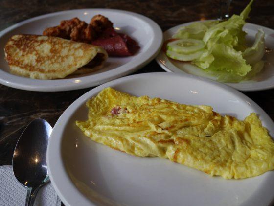 パールガーデンホテル マニラ 2Fレストラン 朝食ビュッフェ 選んだ朝食