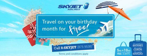 ブスアンガ島へのフライトがあるスカイジェット航空プロモ