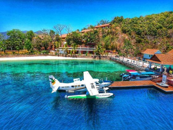 ブスアンガ島への水上フライトがあるAirJuan