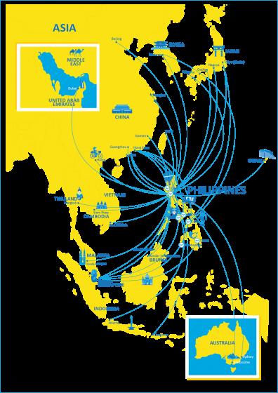 セブパシフィック 国際線ネットワーク