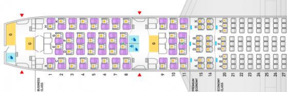 787-9のシート