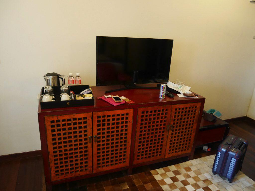 ペナン島ジョージタウンのホテル・ペナガ客室テレビ