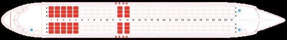 エアアジアA320の座席