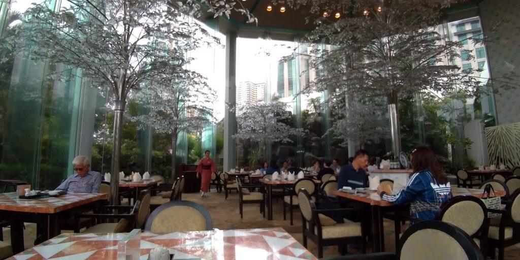 マニラ ダイヤモンドホテル「有楽園」オープンスペース