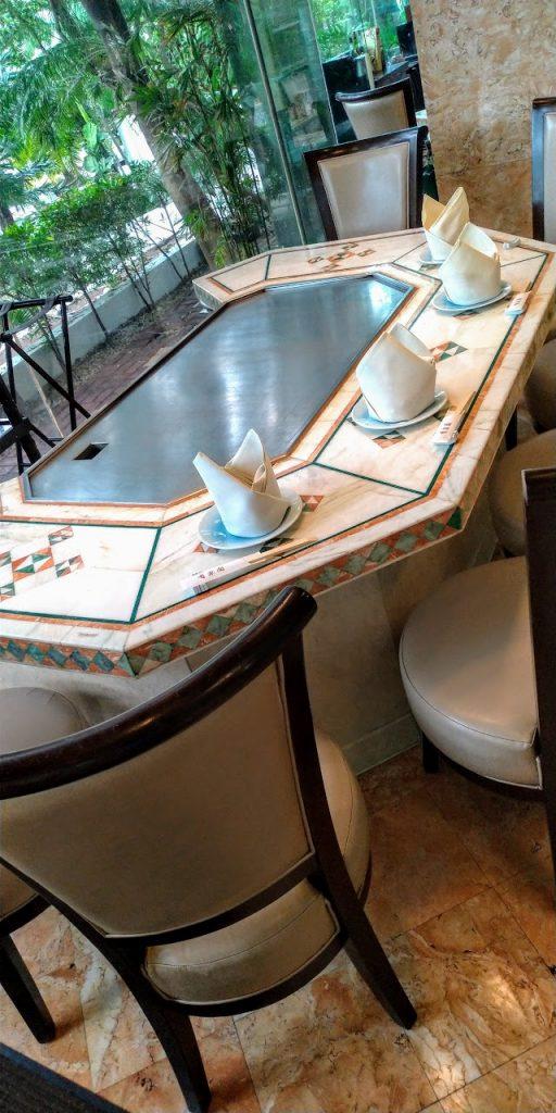 マニラ ダイヤモンドホテル「有楽園」鉄板焼きコーナー