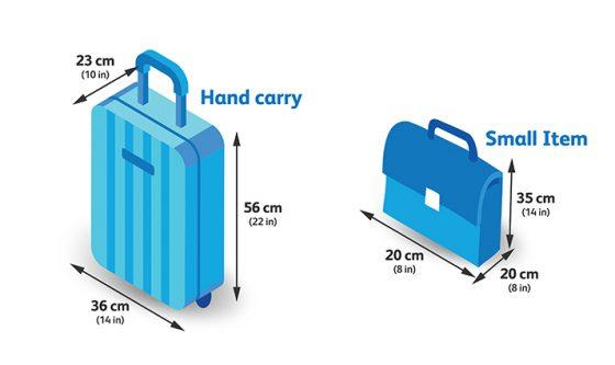 セブパシフィック航空機内持ち込み手荷物の範囲