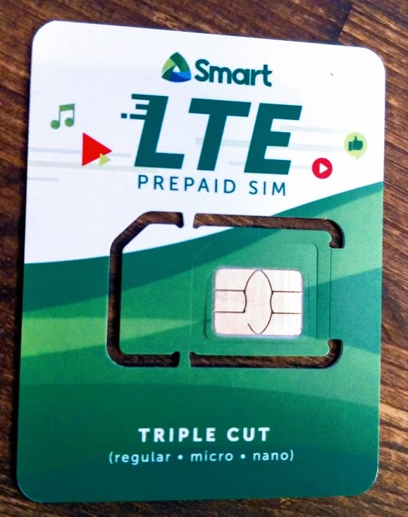 フィリピン Smart(スマート) プリペイドSIMカード(標準、ナノSIM、マイクロSIMに対応)