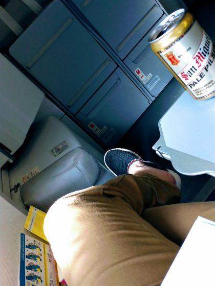 セブパシフィックA320 先頭座席