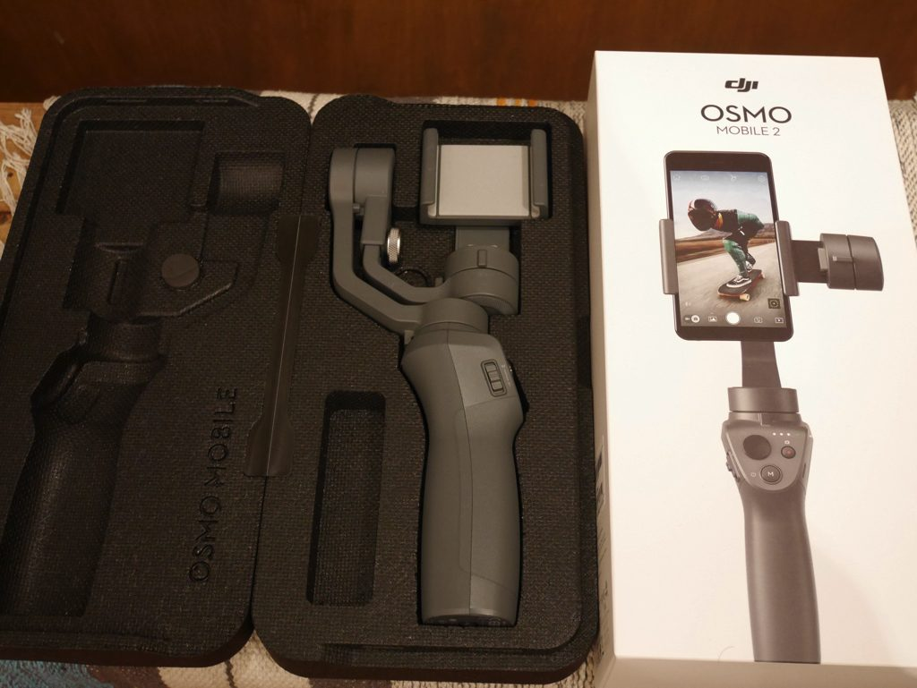 Osmo Mobile2 外箱とケース