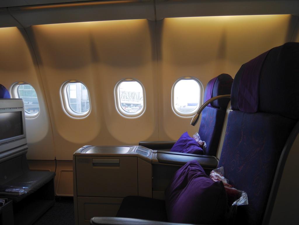 エアチャイナA330-300搭乗記 - ビジネスクラスシート横から