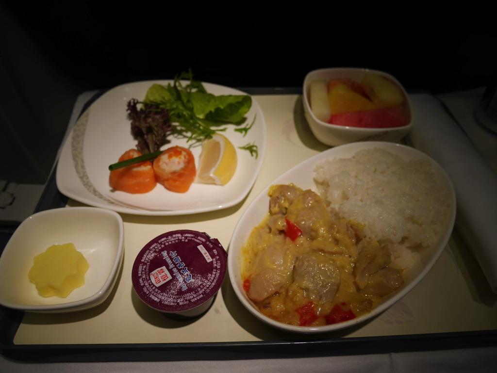 エアチャイナ CA903搭乗記 - 機内食