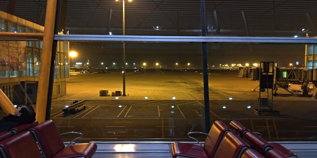 エアチャイナ CA903搭乗記 - 北京空港搭乗口付近