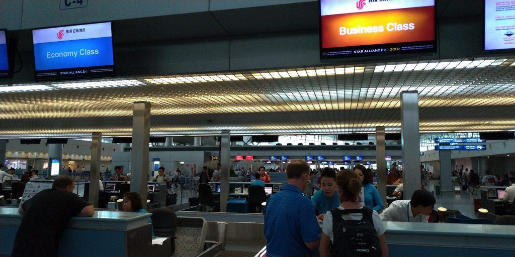 ホーチミン空港チェックインカウンター