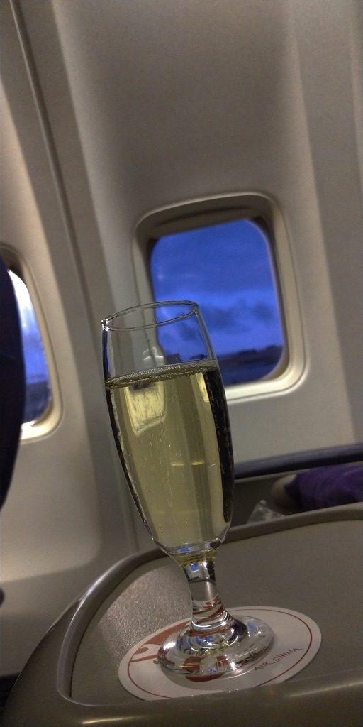 エアチャイナ 機内シャンパン