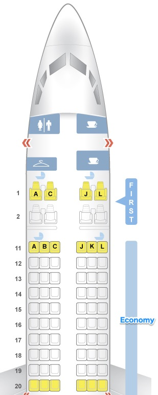 エアチャイナCA903 - B737-800 シート配置