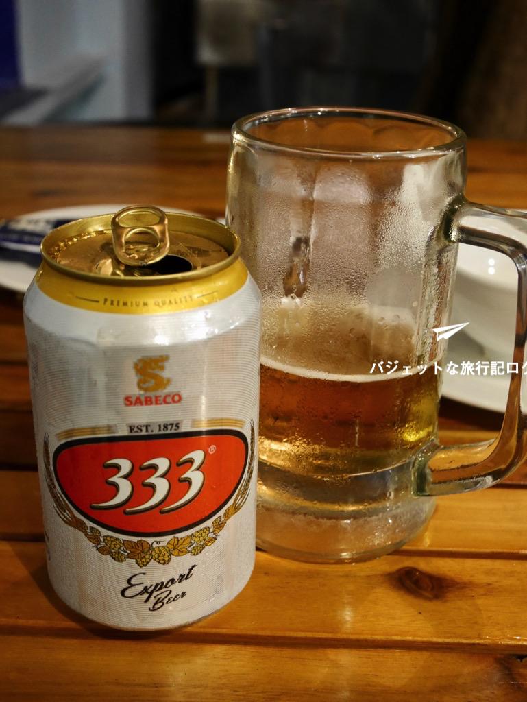 ベトナムビール 333と書いてバーバーバー