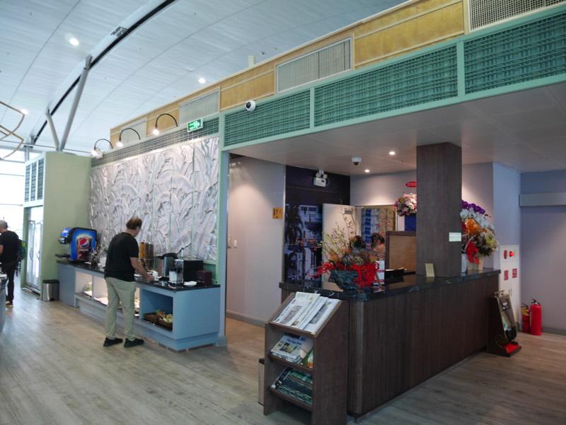 ホーチミン・タンソンニャット国際空港「ル・サイゴンネイズラウンジ」受付(レセプション)