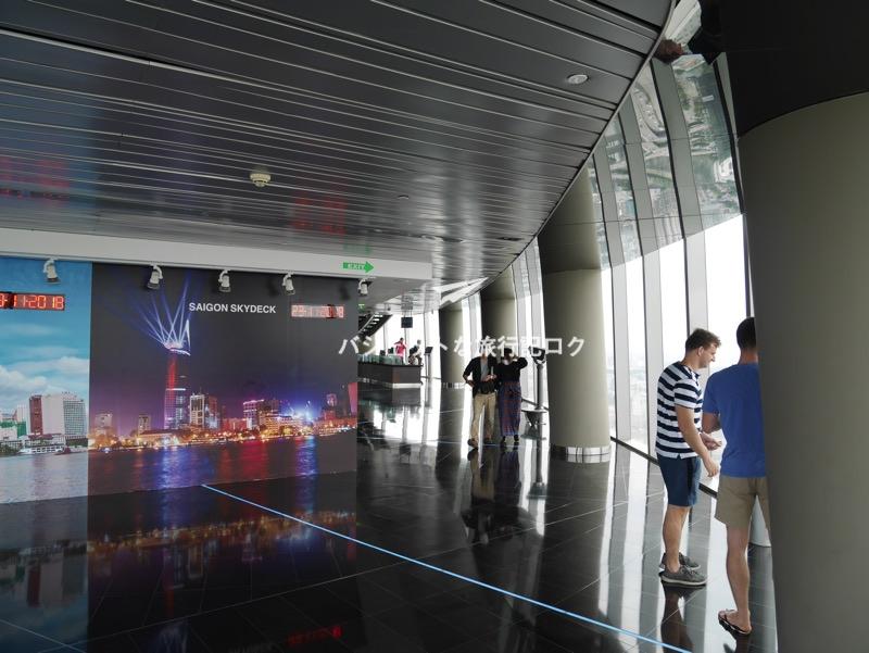ホーチミンが誇るビテクスコ・フィナンシャルタワー。サイゴンスカイデッキ(展望デッキ階内部)