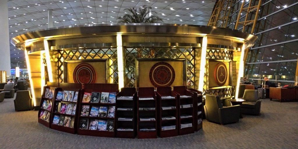 北京首都空港エアチャイナのビジネスクラスラウンジ