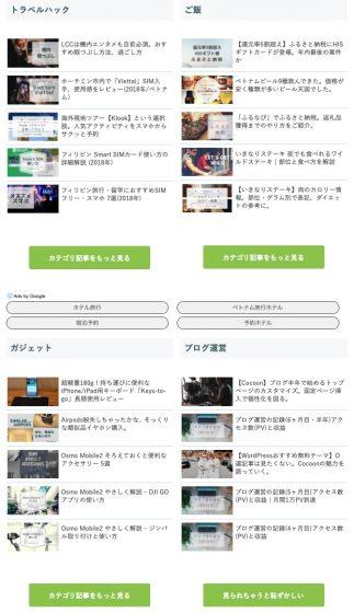 現在の当ブログトップページ