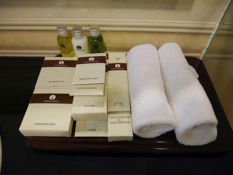 ノーフォークホテルのシャワールーム(アメニティ)