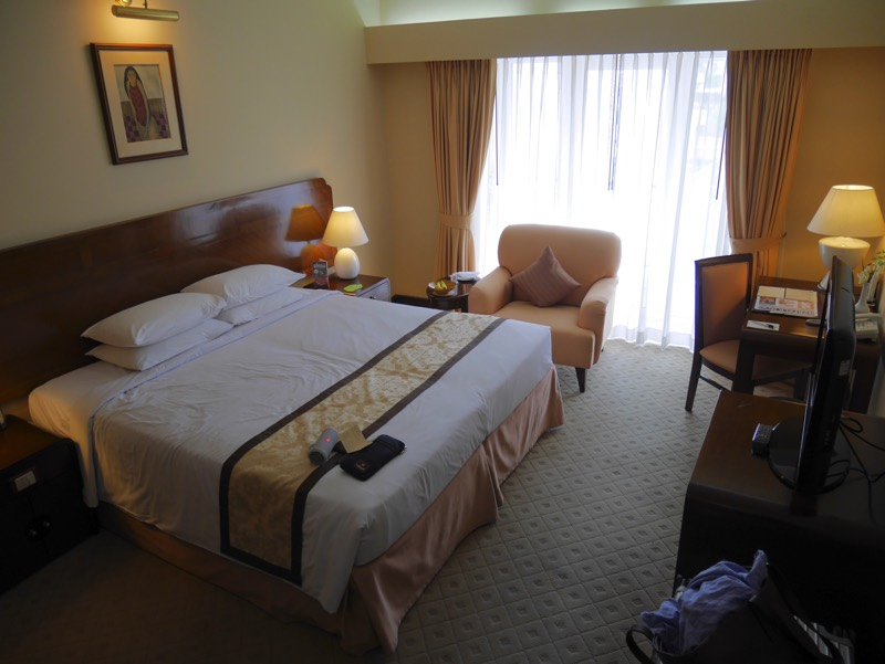 ノーフォークホテルの客室(室内を俯瞰)