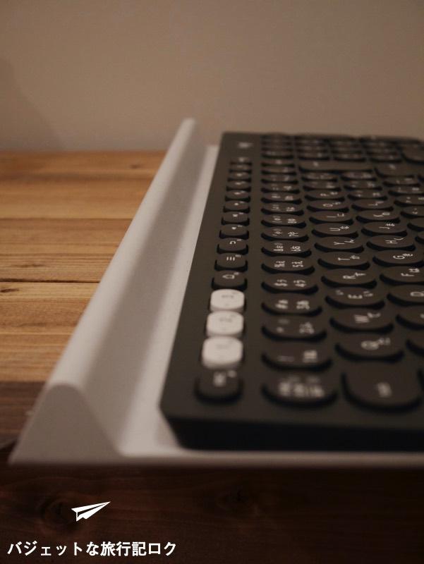 キーボードが複数接続できるマルチペアリング対応のロジクール K780レビュー(デバイスを立てかけるスタンド)