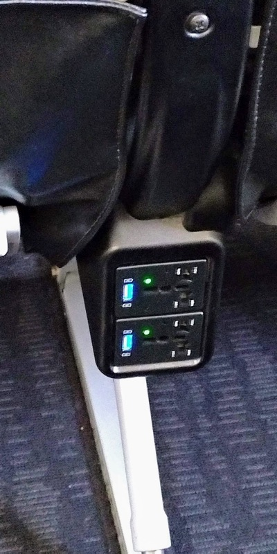 スターフライヤーA320 電源・USB