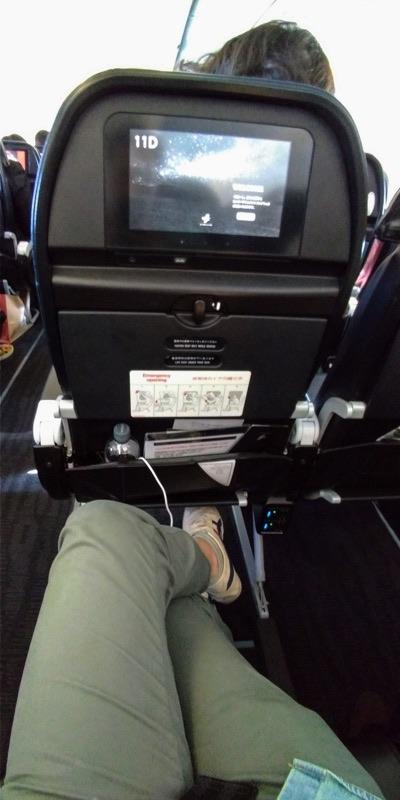 スターフライヤーA320広い座席空間