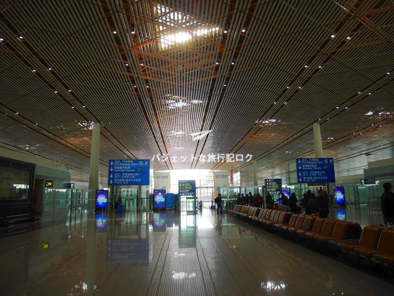 北京首都国際空港 エアポートシャトルの待機場所