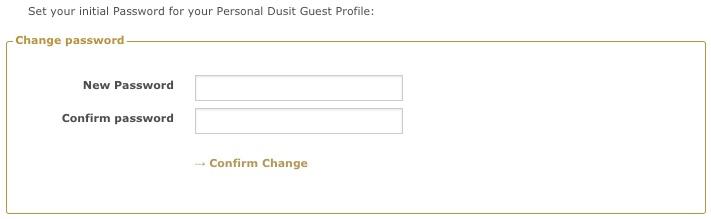 デュシットゴールドの会員登録