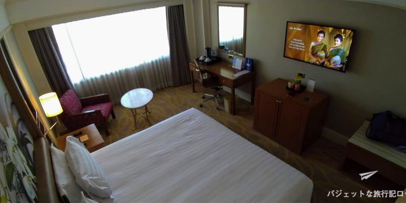 デュヒットタニマニラ客室ベッド