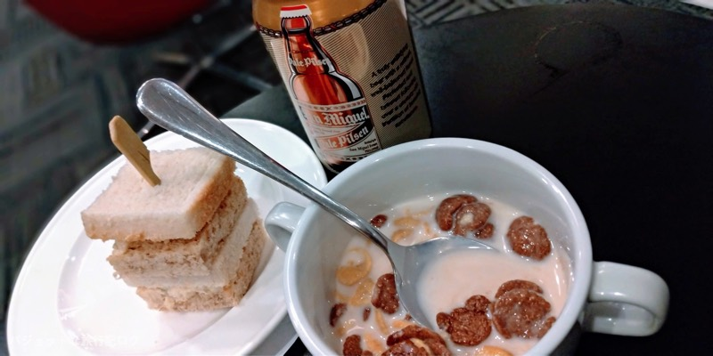 マニラ空港パシフィックラウンジで実際に食べた軽食
