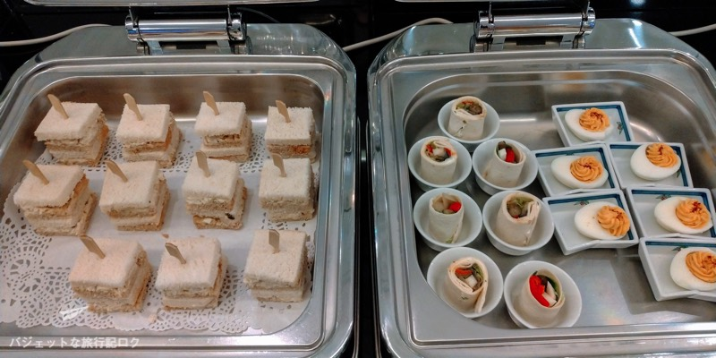 マニラ空港ターミナル3パシフィックラウンジ軽食
