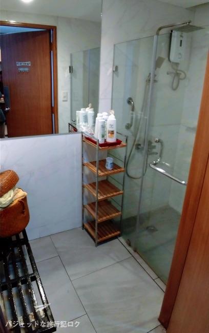 マニラ空港パシフィックラウンジのシャワールーム