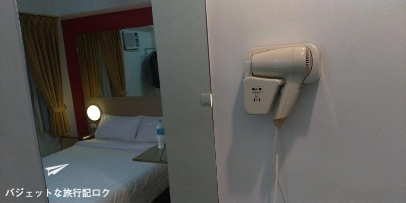 レッドプラネットホテルマビニ 客室 シャワールーム ドライヤーあり