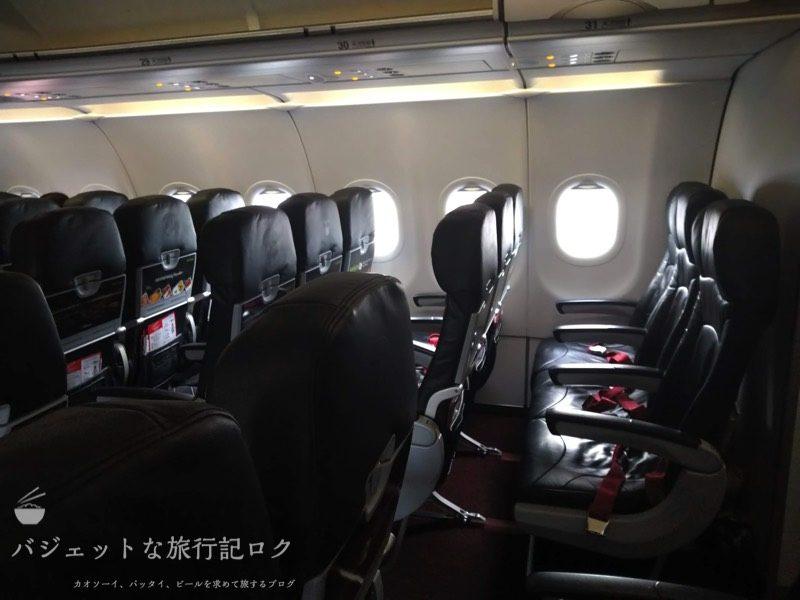 タイ・エアアジアA320最後方座席