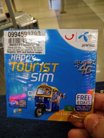 Klook手配で実際に受け取ったDTAC SIMカード